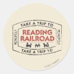 Take a Trip to Reading Railroad Classic Round Sticker
