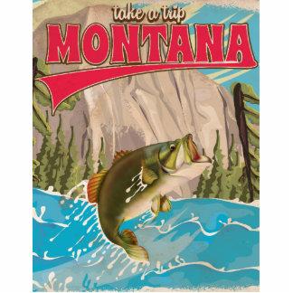 Take a trip - Vintage montana travel poster Cutout