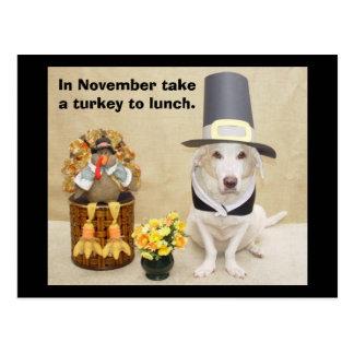Take a turkey to lunch. postcard