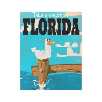 Take a vacation - Florida vintage travel poster. Metal Photo Print