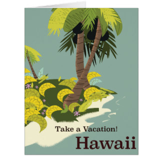 Take a Vacation Hawaii vintage travel poster Card