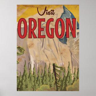 Take a vacation - Oregon vintage travel poster. Poster