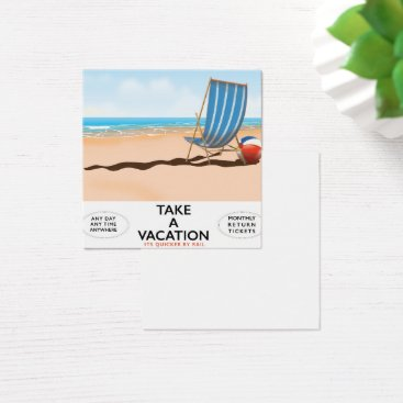 Take a Vacation Square Business Card