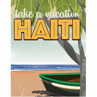 Take a vacation to Haiti travel poster Statuette