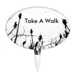 Take A Walk Cake Topper