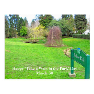 Take a Walk in the Park Day Postcard