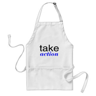 Take Action Blue Adult Apron