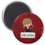 Take Action by Linda Tieu Refrigerator Magnet