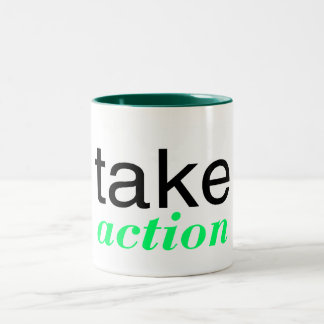 Take Action Green Two-Tone Coffee Mug
