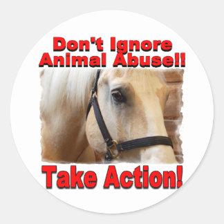 Take Action large Sticker