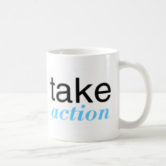 Take Action Lt Blue Coffee Mug