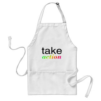 Take Action Multi Colored Adult Apron
