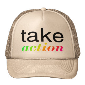 Take Action Multi Colored Mesh Hats