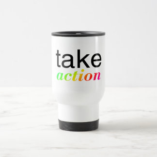 Take Action Multi Colored Travel Mug