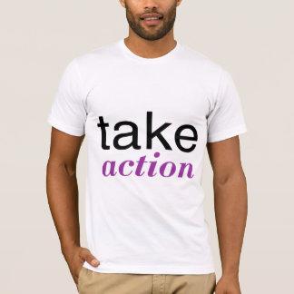 Take Action Purple T-Shirt