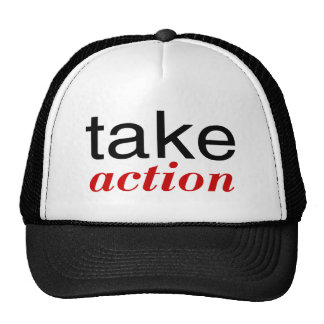 Take Action Red Trucker Hat