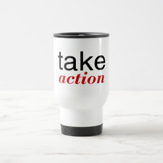 Take Action Red Travel Mug