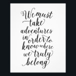 "Take Adventures | Art Print<br><div class=""desc"">Modern Art Prints from Fine and Dandy Paperie! Simply frame and display.</div>"