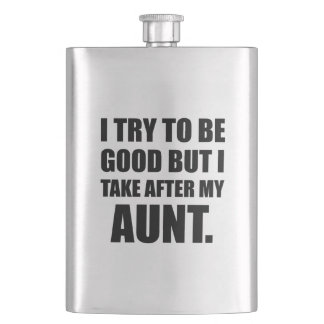 Take After My Aunt Funny Flask