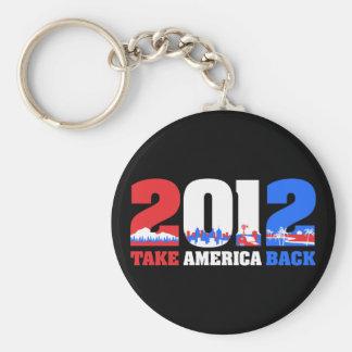 Take America Back 2012 Keychain