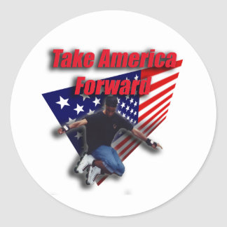 Take America Forward Classic Round Sticker