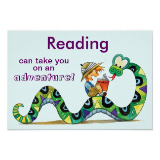 Take an Adventure with Reading Literacy Poster