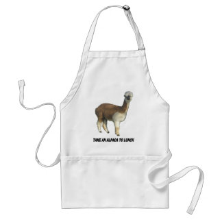 Take an alpaca to lunch adult apron