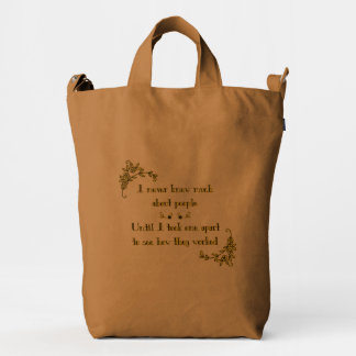 Take Apart Funny Quote Duck Bag