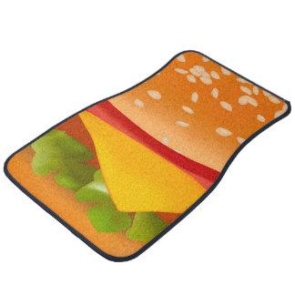 Take-away burger car mat