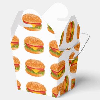 Take-away burger favor box