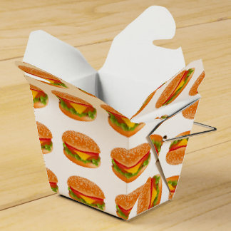 Take-away burger party favor boxes