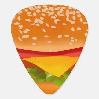 Take-away burger guitar pick