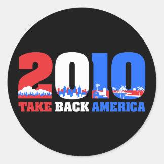 Take Back America 2010 Round Sticker