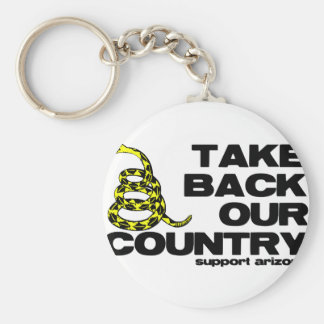take back our country keychain