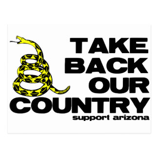 take back our country postcard