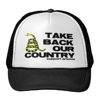 take back our country trucker hat