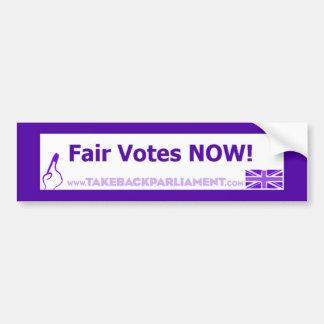 Take Back Parliament Bumper Sticker