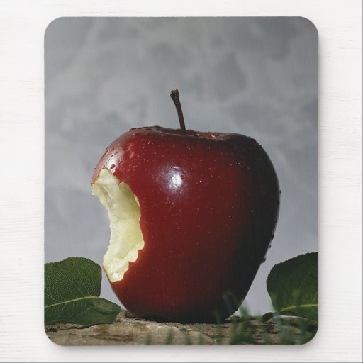 Take Bite Out Of Apple Mouse Mat