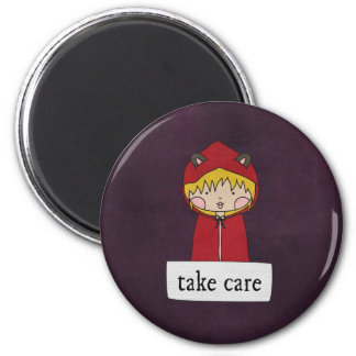 Take Care by Linda Tieu Magnets
