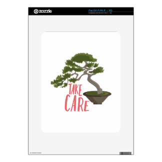 Take Care Decals For iPad