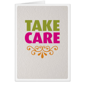 Take care get well soon card