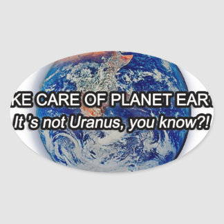 Take Care of Planet Earth! Oval Sticker