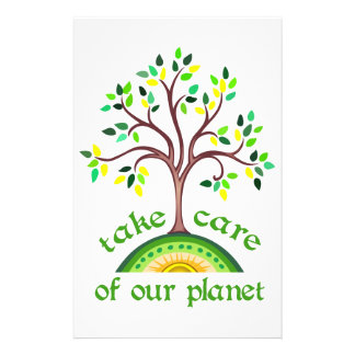 TAKE CARE OF PLANET STATIONERY PAPER