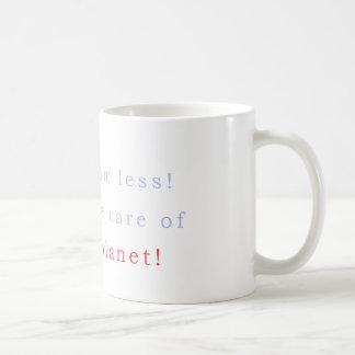 Take care of the planet coffee mug