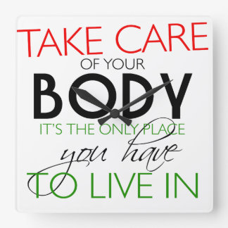 Take Care Of Your Body Healthy Lifestyle Clock
