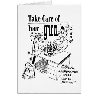 Take care of your gun greeting card