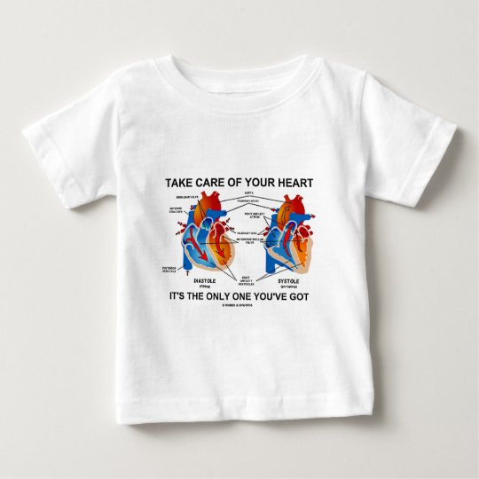 Take Care Of Your Heart It's Only One You've Got Baby T-Shirt