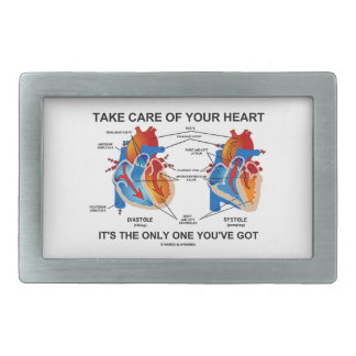 Take Care Of Your Heart It's Only One You've Got Rectangular Belt Buckle