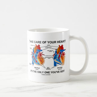 Take Care Of Your Heart It's Only One You've Got Coffee Mug