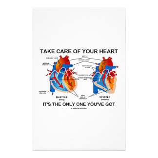 Take Care Of Your Heart It's Only One You've Got Stationery Design